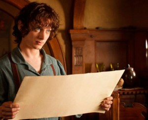 Even Frodo shows up, though his character wasn't born yet. Don't worry, it all makes sense when you see the movie.