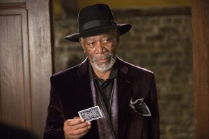 You know a movie is awesome when Morgan Freeman can wear a sweet hat and purple blazer